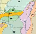 Level III ecoregions, United States, Arkansas.png