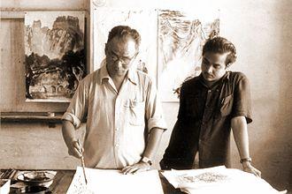 Beohar Rammanohar Sinha - Image: Li Keran with Rammanohar