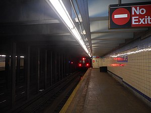 Liberty Avenue (IND Fulton Street); C Train heads for Euclid Avenue.jpg