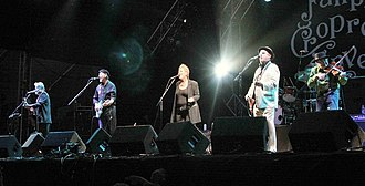 Liege & Lief - Reunion line-up, August 2007, with guest vocalist Chris While replacing Denny