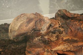 Lindow Man - Lindow Man's face