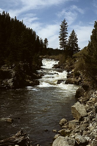 Little Salmon River - A waterfall on the Little Salmon River