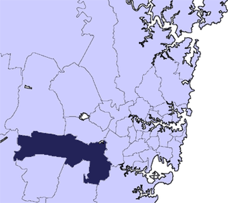 City of Liverpool (New South Wales) - Location in Metropolitan Sydney