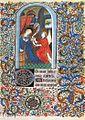 Livre d'heures à l'usage de Rome - Museo Lazaro Galdiano madrid Ms 15452 f27 (Annonciation).jpg