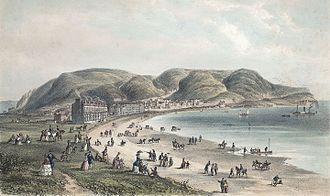 Victorian era - Llandudno, 1856. With the arrival of the railway network, seaside towns became popular destinations for Victorian holiday makers