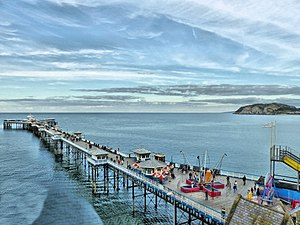 Llandudno - Llandudno pier from Marine Drive