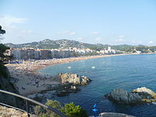 Lloret de Mar the beach.JPG