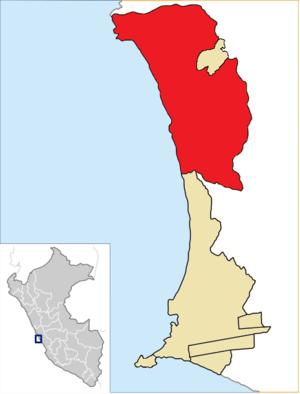 Ventanilla District - Image: Location of the district Ventanilla in Callao (2)