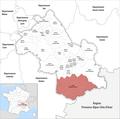 Locator map of Kanton Matheysine-Trièves 2019.png