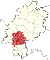 Locator map of Planungsverband Ballungsraum Frankfurt Rhein-Main in Hesse.svg