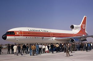 Lockheed L-1011 TriStar - Prototype L-1011 TriStar being prepared for its first flight test in 1970