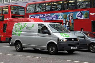 Zipcar - Zipvan vehicle in London.