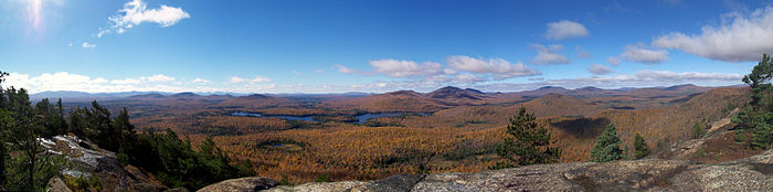 Panorama of Loon Lake from Look Out Mountain