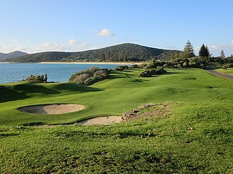 Golf course - Fairway at Lord Howe Golf Course, Lord Howe Island, NSW, Australia