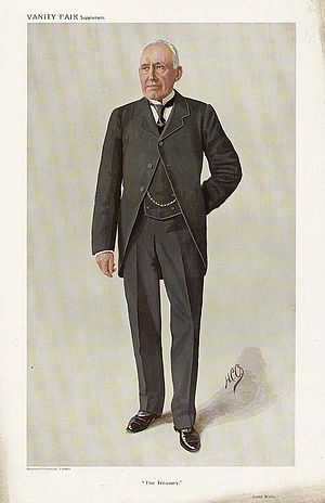 "Reginald Welby, 1st Baron Welby - ""The Treasury"" Lord Welby as caricatured in Vanity Fair, March 1910"