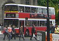 Lothian Buses bus Volvo Olympian Alexander Royale Red and White livery May 2009.jpg