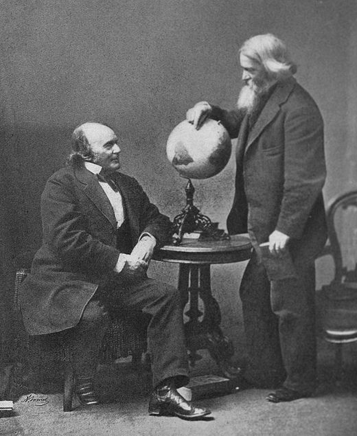 With Benjamin Peirce Louis Aggasiz and Benjamin Peirce.jpg