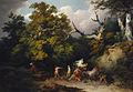 Loutherbourg-Des bandits attaquant des voyageurs dans une forêt d'Allemagne.jpg