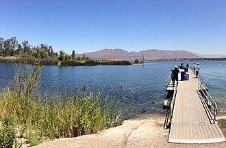 Lower Otay Reservoir - A pier on the Lower Otay Reservoir