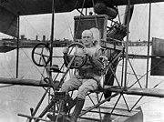 Lt. j.g. Marc Andrew Mitscher in a Curtiss A-type seaplane at NAS Pensacola, Florida (USA), circa in 1916 (80-G-433310)