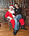 Lucky Gal and Bad Santa, at Jamian's Bar, Red Bank, New Jersey (4217534258).jpg
