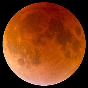 Full moon - Photograph of full moon during the total lunar eclipse of 28 September 2015.