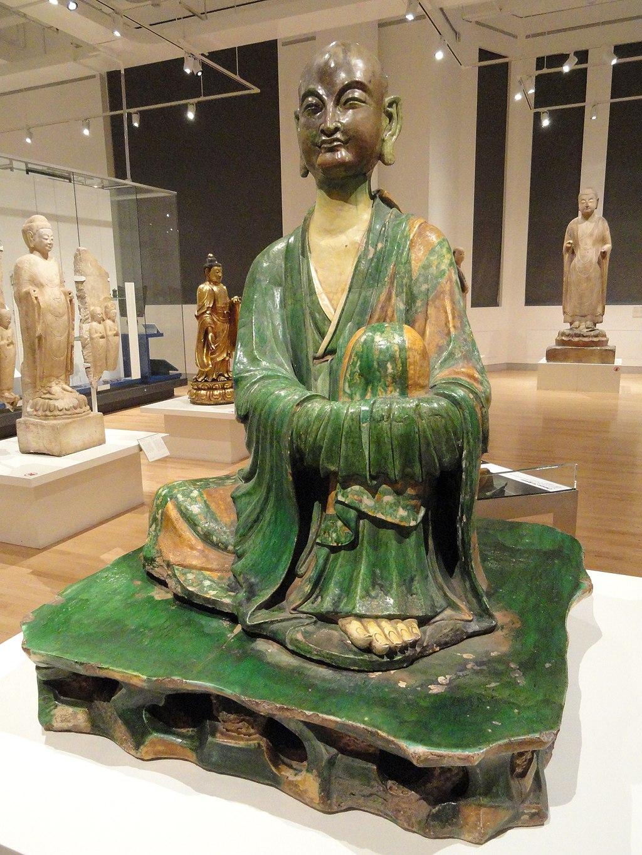 Luohan - Yixian Glazed Ceramic Sculpture