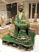 Luohan (arhat), Yixian cave, Hebei Province, China, Liao Dynasty, 11th century - Royal Ontario Museum - DSC09807.JPG