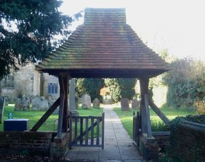 St Margaret's Church, Ifield - Lychgate at the churchyard entrance