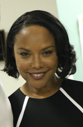 Lynn Whitfield - Whitfield on the set of Curveball, in 2014