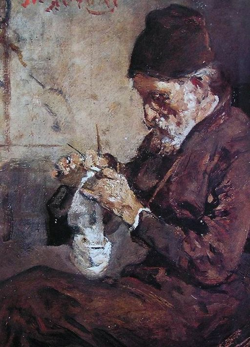 Lytras Nikiphoros Knitting monk