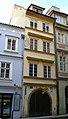Měšťanský dům U zlatého řetězu (Malá Strana), Praha 1, Mostecká 281, Malá Strana - část domu v Lázeňské ulici.jpg