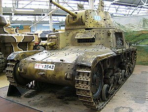 Fiat M14/41 - M 14/41 in the Bovington Tank Museum