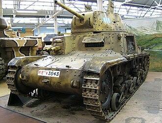 Fiat M14/41 - M 14/41 in the Bovington Tank Museum