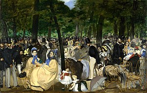 Bone char - Édouard Manet, Music in the Tuileries, 1862