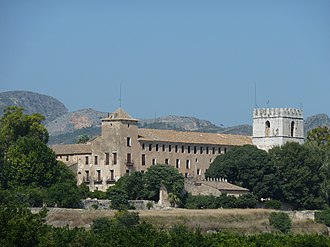Monastery of Sant Jeroni de Cotalba - General view of the monastery from Ròtova.