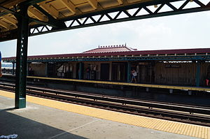 MTA NYC Subway 207th St. (1) train station view.JPG