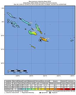 2016 Solomon Island earthquake