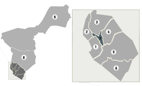 Urban areas of La Paz