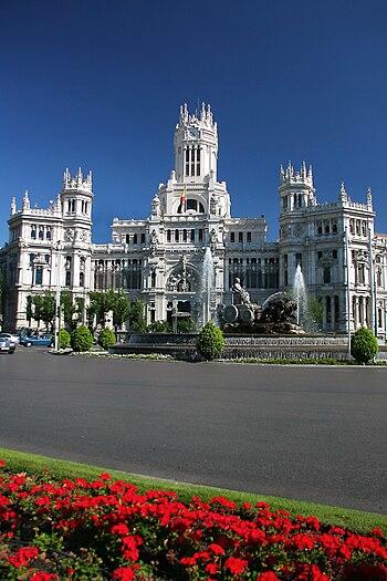 Madrid. La Cibeles square