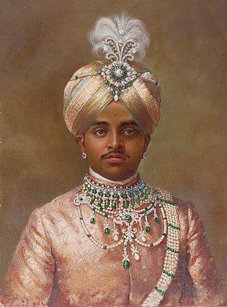 Krishna Raja Wadiyar IV - Image: Maharaja Sir Sri Krishnaraja Wodiyar 1906 by 1906 K Keshavayya