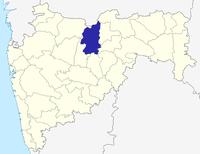 मानचित्र जिसमें बुलढाणा ज़िला हाइलाइटेड है