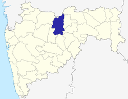 Location of Buldhana district in Maharashtra