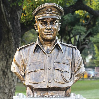 Somnath Sharma - Sharma's statue at Param Yodha Sthal, National War Memorial, New Delhi