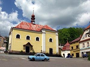 Malé Svatoňovice - Image: Malé Svatoňovice Barokní kostel Sedmi radostí Panny Marie