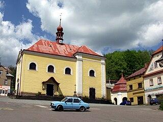 Malé Svatoňovice Village in Czech Republic