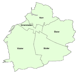 Malmö's city districts