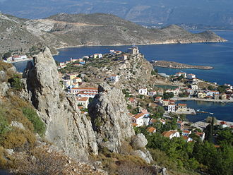 Kastellorizo - View of Mandraki, the small port.