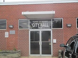 Many, Louisiana - Image: Many, LA, City Hall IMG 7512
