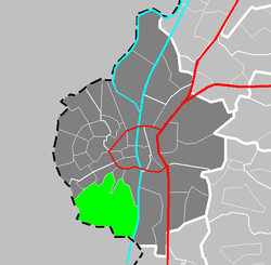 Location of Sint Pieter in Maastricht